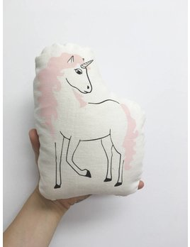 Sun and Stars Coussin Licorne Rose