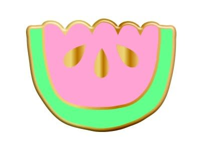 The Tate Group Jelly Watermelon Pin