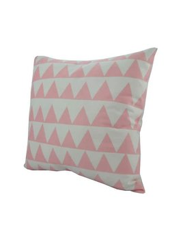 Nostalgia Coussin Triangles Rose