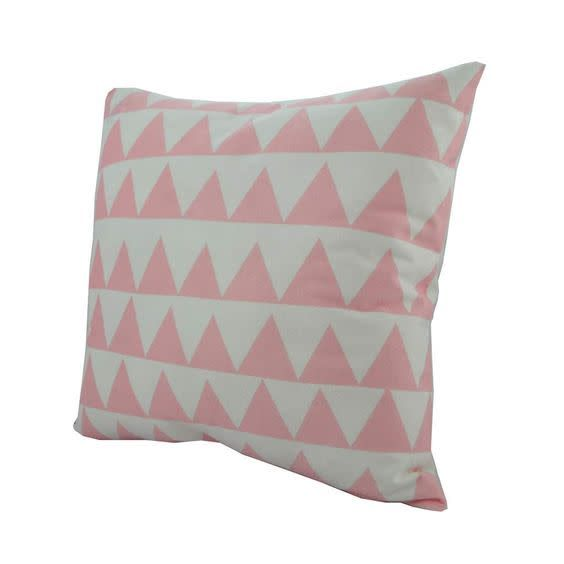 Nostalgia Pink Triangles Pillow