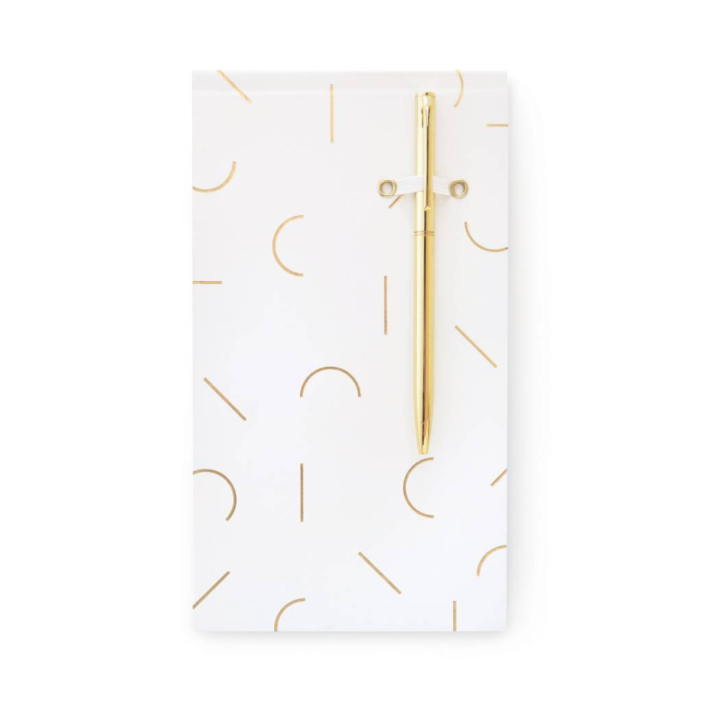 Designworks ink Memphis Pad And Gold Pen