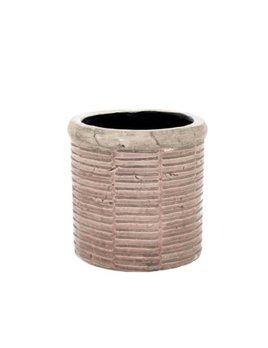Indaba Pot Rayé Corail