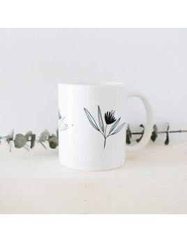 Natasha Prévost Illustrations Black Flower Mug
