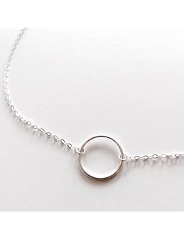 L'AUNE Full Moon Silver Necklace