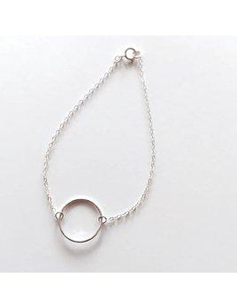 L'AUNE Bracelet Pleine Lune Argent