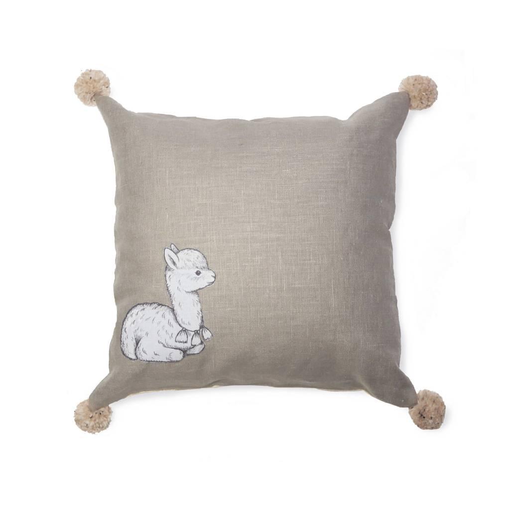 Un Pour Tous Khaki Alpaca Pillow