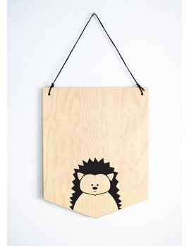 Abricotine Hedgehog Wall Decoration