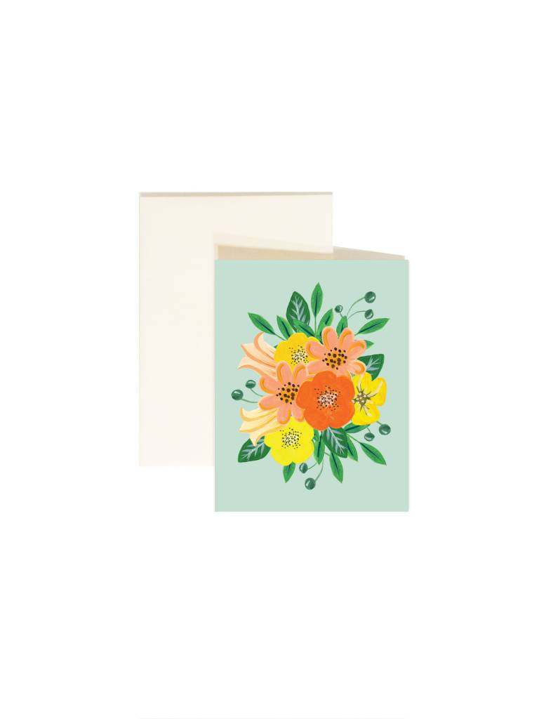Paige and Willow Carte Fleurs Jaunes