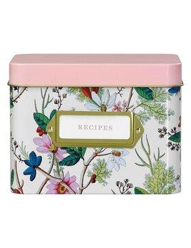 Wild&Wolf Floral Recipe Tin Box