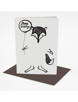 Wee Gallery Dress up Fox Greeting Card