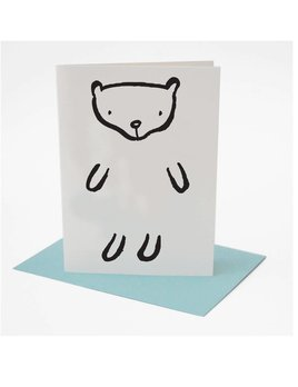 Wee Gallery Dress up Bear Greeting Card