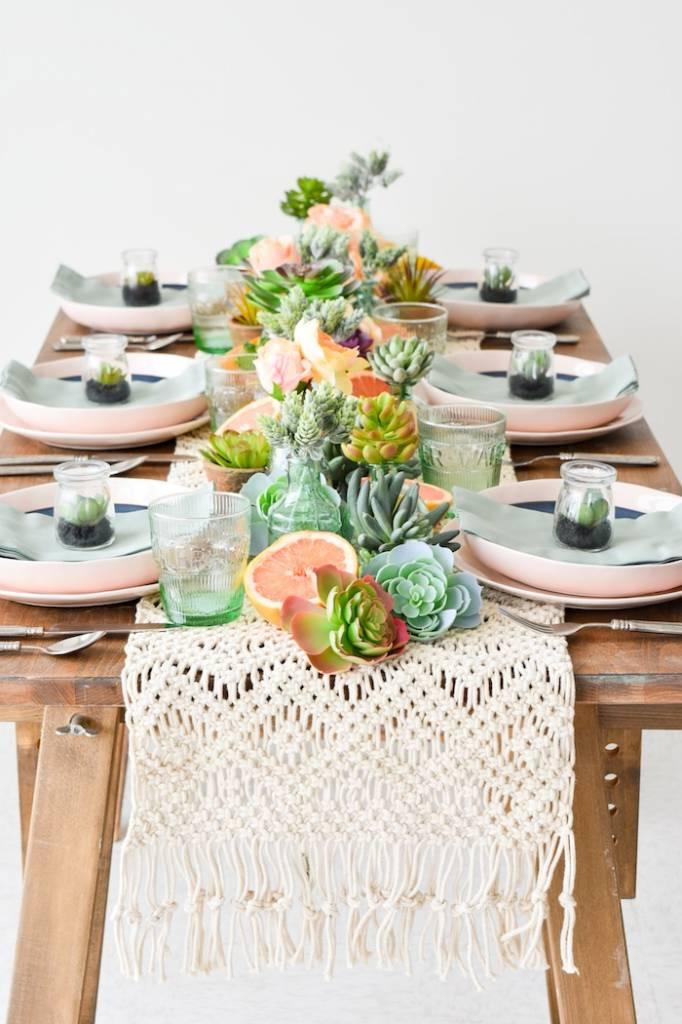 Une table parfaitement estivale