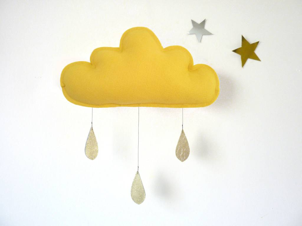 The Butter Flying Mustard Cloud Mobile