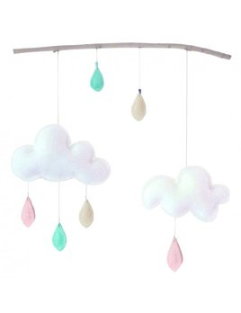 The Butter Flying Mobile Branche Pastel