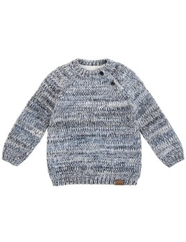 Petit Lem Heather Grey Knit Sweater