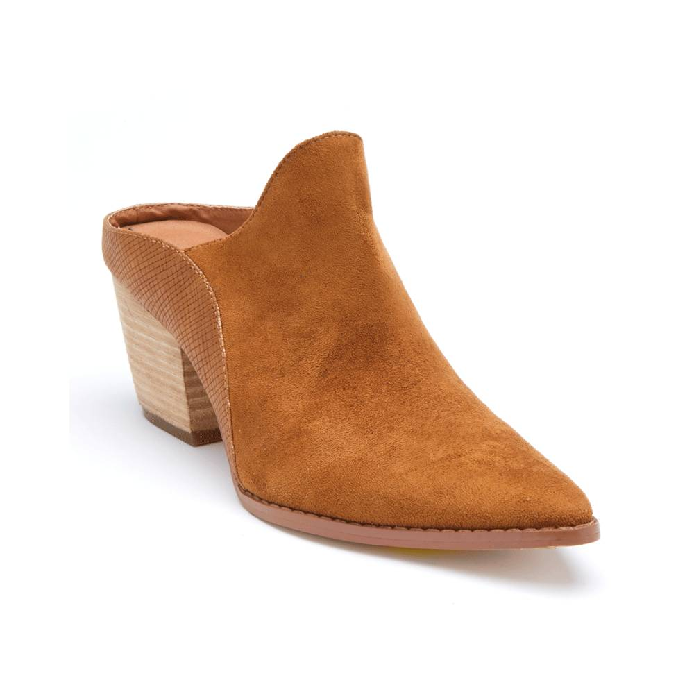 Matisse Tan Heeled Mules