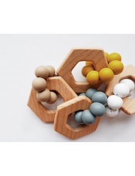 Minika Hexagon Teether - Color Choices