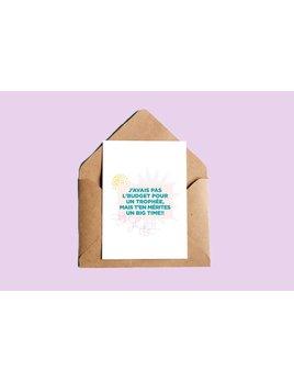 Oui Manon Greeting Card Trophée