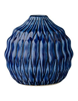 Bloomingville Navy Stoneware Vase
