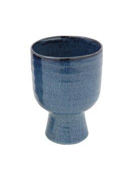 Bloomingville Blue Stoneware Vase