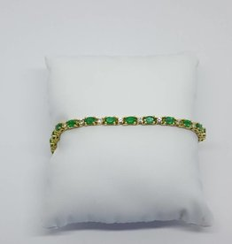 C 18kt Emerald Diamond Bracelet