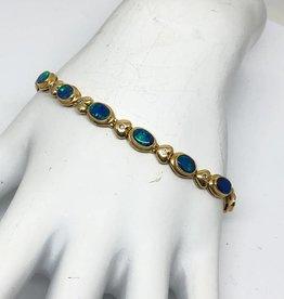 C 14kt Black Opal Bracelet