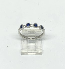 18kt .31ctw Sapphie and .12ctw Diamond Ring
