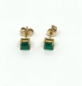 14kt Emerald Stud Earrings