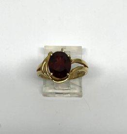 14kt Garnet and Diamond Ring
