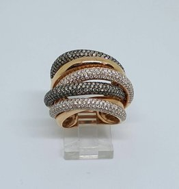 14kt Rose Gold 3.33tw SZ7 Diamond Fashion Ring
