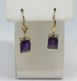 14kt Amethyst Earrings