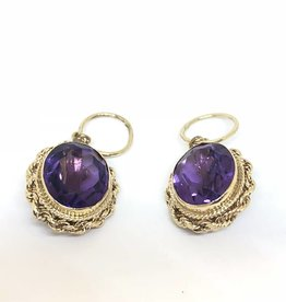 14kt Amethyst Earring Enhancers approx 10ct