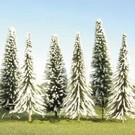 """Bachmann 32153 Pine Trees w/Snow, 3""""-4"""", 36Pcs."""