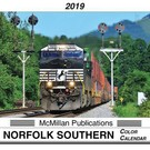 McMillan Publishing 2019 Norfolk Southern Color Calendar