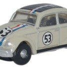 Oxford NVWB001 1960s VW Beetle Herbie #53, N Scale