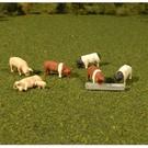 Bachmann 33168 Pigs 8Pcs., O Scale
