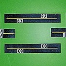 """Leisuretime Products 105 """"N"""" Mini Highways w/RR Xing & Intersection Lines"""