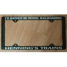 Henning's Trains License Plate Frame