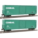 Walthers 910-B1927 Conrail 50' Evans Smoothside Boxcar 2-Pack