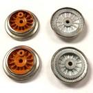 Model Engineering Works AO-1003O A.F. O Gauge Wheel Set w/Wrap Around Rim, Orange