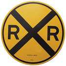 "Microscale 10201 RxR Crossing Sign, 18"" Round"