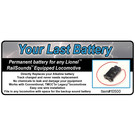 JW&A 10500 - Your Last Battery, Railsounds Batt. Replacement