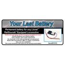 JW&A 10510 - Your Last Battery, Railsounds Lite Batt. Replacement