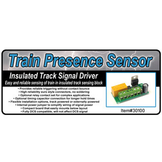 JW&A 30100 Train Presence Sensor for Insulated Track, O Gauge
