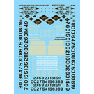 Microscale 60-686 Reading Co. Diesel 1962-73 Decals, N Scale
