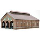Triple-Track Brick Engine House, N Scale