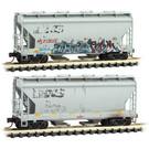 Micro-Trains 9244460 N.S. 2-Bay Hopper weathered, 2-Pk