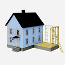 Lionel 1967130 Adding-On House Kit, HO