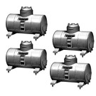 Lionel 1957290 Tank Containers4-Pk, silver