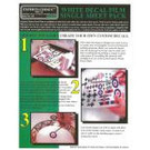 Experts-Choice No.119 Decal Paper, White Inkjet, 8 1/2 x 11